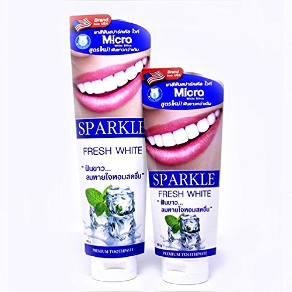 病んでいる階段飾る(スパークル)SPARKLE 歯磨き粉 (フレッシュホワイト 120g + 60g)