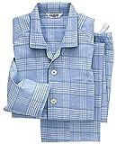 (グンゼ)GUNZE メンズパジャマ (大きめ釦・斜め釦ホール) 長袖長パンツ ダブルガーゼ SF2257 59 ブルー L