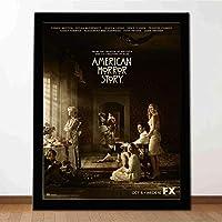 アメリカのホラーストーリー映画のポスター-ファッション絵画ポスター -壁掛け 壁飾り - ぶら下げ絵画-飾る部屋-最高の贈り物-14x12in(額縁を送る)