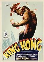 King Kongポスター映画K 11x 17Fay Wrayブルース・Cabotロバート・アームストロングFrank Reicher Framed - Black Wood FWA433480