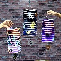 Messagee ハロウィン飾り 提灯 4個セット カボチャ 骸骨 折りたたみ式 ランタン 紙 部屋 装飾 用 ランプ 万聖節 文化祭 学園祭 パーティー デコレーション 撮影道具