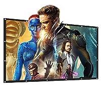 Portable Movie Screen Tabletop 16:9 Home Cinema Projector Screen PVC Fabric (100 Inch) [並行輸入品]