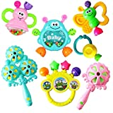 Yancorp赤ちゃんのおもちゃななしち点セット3-6-12ヶ月新生児鈴を振る玩具0-1歳の赤ちゃん・知育玩具幼児教育乳幼児の手の鈴を鳴らす