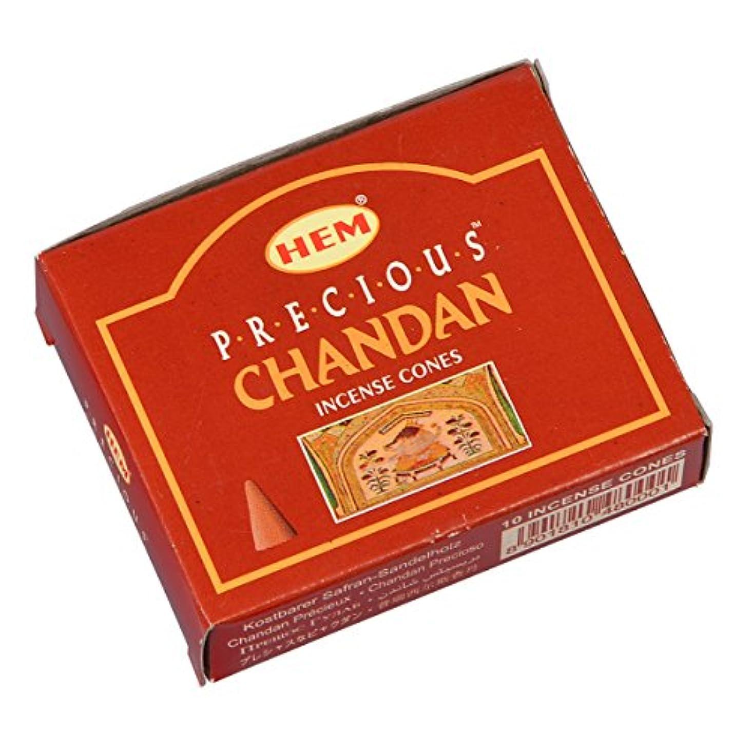 味わうクスコ麺HEM(ヘム) プレシャス チャンダン PRECIOUS CHANDAN コーンタイプ お香 1箱 単品 [並行輸入品]