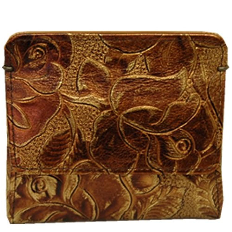 [アルカン] Arukan 財布 フローラ コインケース スリム 革 ローズ柄型押し 1358319
