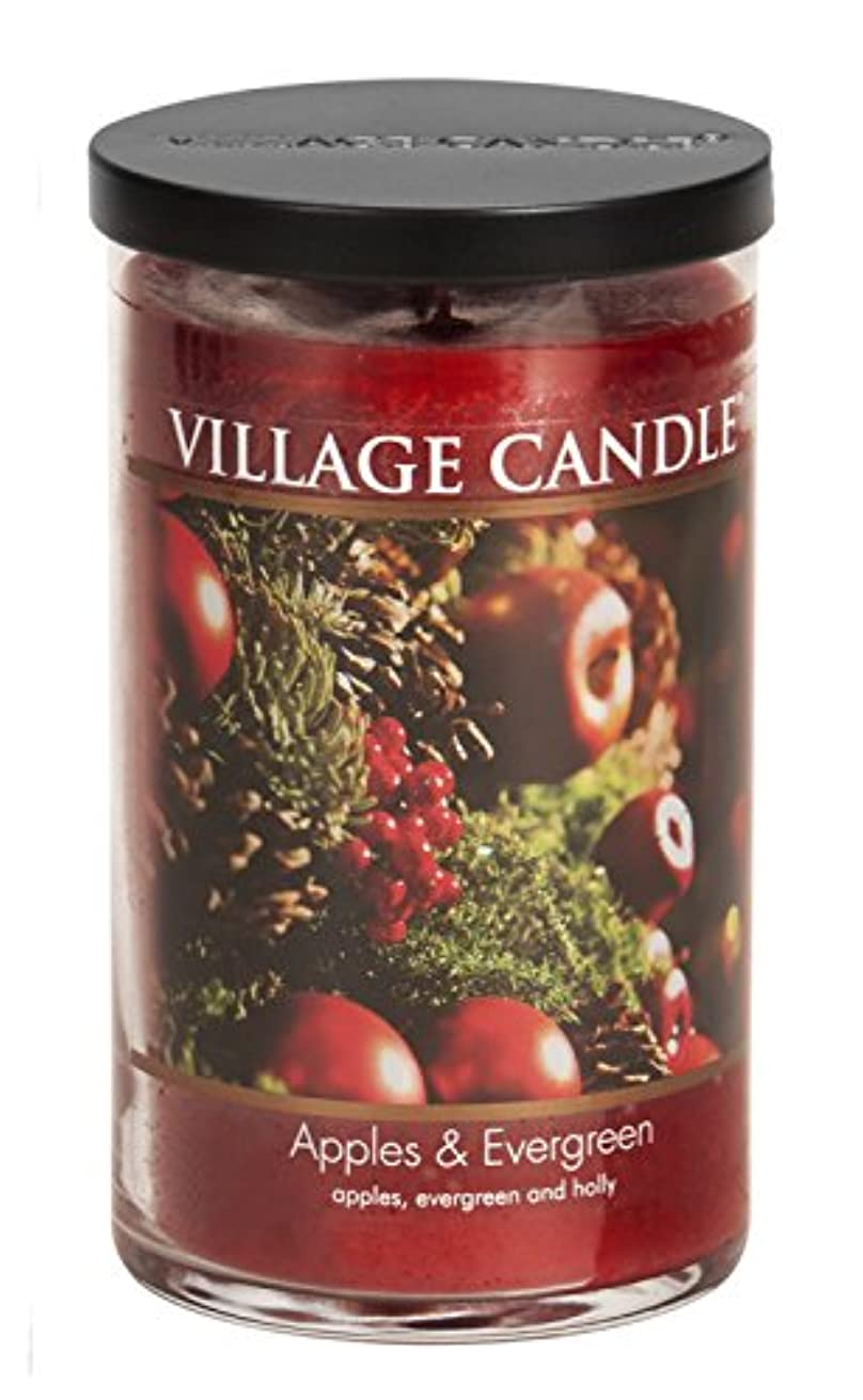 Village Candle Apples & Evergreen 24 ozガラスタンブラーScented Candle, Large