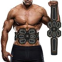 腹筋ベルト EMS 腰部 腹筋トレーニング 多機能 マシーンフィットネスベルト ダイエット器具 超薄 男女兼用 健康機械 USB充電式 Lemebo