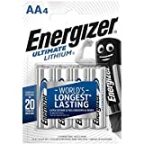 Energizer L91 Ultimate Lithium Battery AA Size - 4 Pack