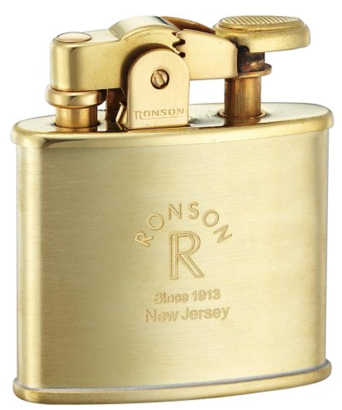 マウンド電話悪魔RONSON ロンソン オイルライター スタンダード フリント式 ブラスサテン R02-0024