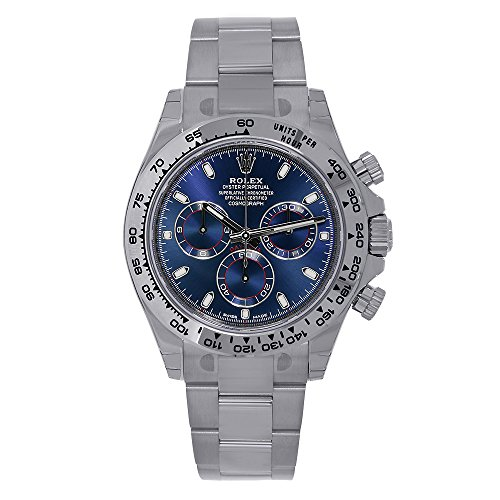 Rolex Cosmograph Daytona 18Kホワイトゴールド40mmブルーダイヤル腕時計116509