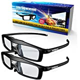 Evolved Dimensions (previously True Depth 3D) NEW Firestorm LT Lightweight Rechargeable DLP link 3D Glasses for All 3D Projectors (Benq Optoma Acer Vivitek Dell Etc) and All DLP HD 3D TVs (Mitsubishi Samsung Etc) Compatible At 96 Hz 120 Hz and 144 Hz! (2 Pairs!) [並行輸入品]