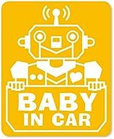 imoninn BABY in car ステッカー 【マグネットタイプ】 No.50 ロボットさん (黄色)