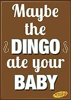 "ata-boyサインフェルド。。。"" Dingo Ate Your Baby"" 2.5"" X 3.5""マグネット冷蔵庫用、ロッカーと"