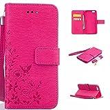 Zeebox iPhone 6 / iPhone 6s 手帳型 ケース カード収納 スタンド ストラップ付き Apple iPhone6 / iPhone6s 対応 高品質 保護カバー 生涯補償付き (ピンク)