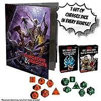 ダンジョンズ&ドラゴンズ Xanatharと武道のスペルブックカード + ランダムなD&Dキャラクターフォリオ ランダムなチェス7個セット