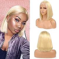 本物の髪/ショートレディースウィッグ、ゴールドファッションナチュラルソフト/サポートパーマ髪染め、長さのバラエティ 12inch(30.48cm)