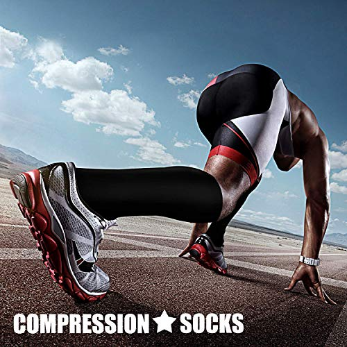 COMPRESSION SOCKS - At times, Compression socks are viewed as medicinal products. We intend allay this myth by combining fashion, technology and science to bring you the triple comfort without. Upgraded - The material of our compression socks are upgraded with nylon percentage from 40% to 85%. Delivers 360-degree stretch for greater flexibility and durability. Breathable high performance fabric keeps an optimal temperature. Bacteria and moisture for maximum level of comfort.