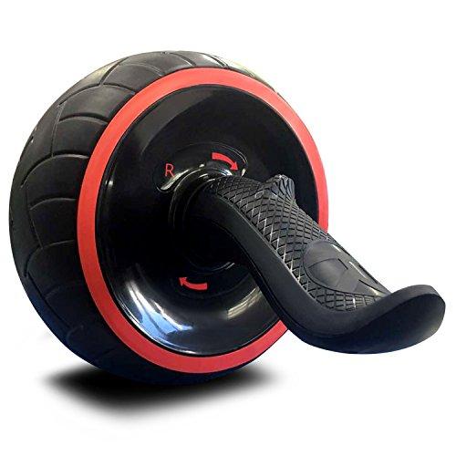 AKNONRE アブホイール アシスト機能 腹筋ローラー エクササイズローラー 進化版 超静音 高弾性 滑り止め 耐磨耗 握りやすい 膝を保護するマット付き (進化版) (進化版)