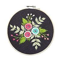 ヨーロッパのシンプルな植物の花の刺繍DIY材料パッケージ手作りのクリエイティブ初心者キット(竹刺繍を含む)