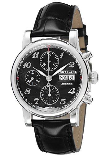 [モンブラン]MONTBLANC 腕時計 STAR CHRONO ブラック文字盤 自動巻 アリゲーター革 106467 メンズ 【並行輸入品】