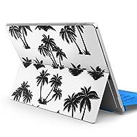 Surface pro6 pro2017 pro4 専用スキンシール サーフェス ノートブック ノートパソコン カバー ケース フィルム ステッカー アクセサリー 保護 白 黒 植物 009372