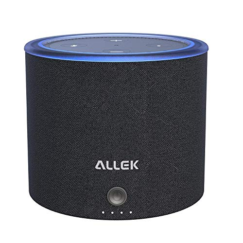 Allek バッテリーベース 10000mAh Amazon Echo Dotの第2世代用品 保護カバーケース 携帯便利 充電用