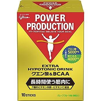 グリコ パワープロダクション エキストラ ハイポトニックドリンク クエン酸&BCAA グレープフルーツ味 1袋 (12.4g) 10本 粉末ドリンク パウダー
