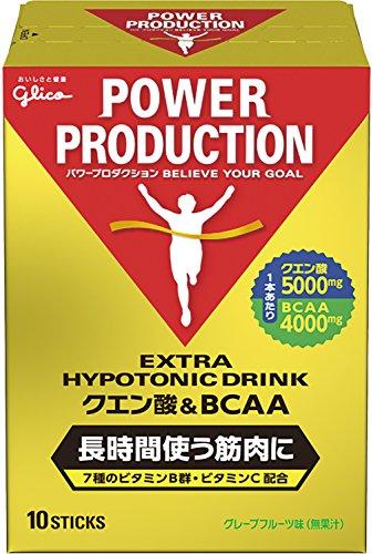 グリコ パワープロダクション エキストラ ハイポトニック筋持久系ドリンク クエン酸&BCAA グレープフルーツ味 1袋 (12.4g) 10本