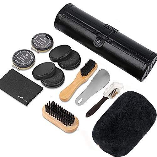 Mocent 靴磨きセット シューケアセット (革靴用)靴の手入れに適用される日常 コンパクトで携帯にも便利