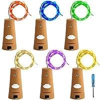 6個セット コルクライト AFUNTA 78インチ / 2 m ナイトライト 文字列ライト ボトルライト LED ライト LEDストリングライト イルミネーション ロマンチック 6色