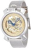 BrookianaフルスケルトンEngraved装飾自動巻きゴールド移動~シルバーメッシュba4102-gpssメンズ時計