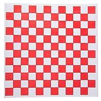 フードライナーペーパー 300枚 12インチ x 12インチ 赤と白 バスケット/フライ/ハンバーガー/デリグリース耐性 バルク