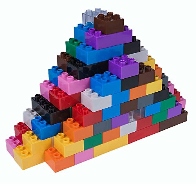 Strictly Briks / ストリクトリーブリックス クラシック ビッグブリック他の主要ブランドの製品と100%互換性のあるビルディングブリックセット3歳児以上対象のラージブリック2サイズプレミアムビルディングブリック ラージペグ 108ピースー12カラー