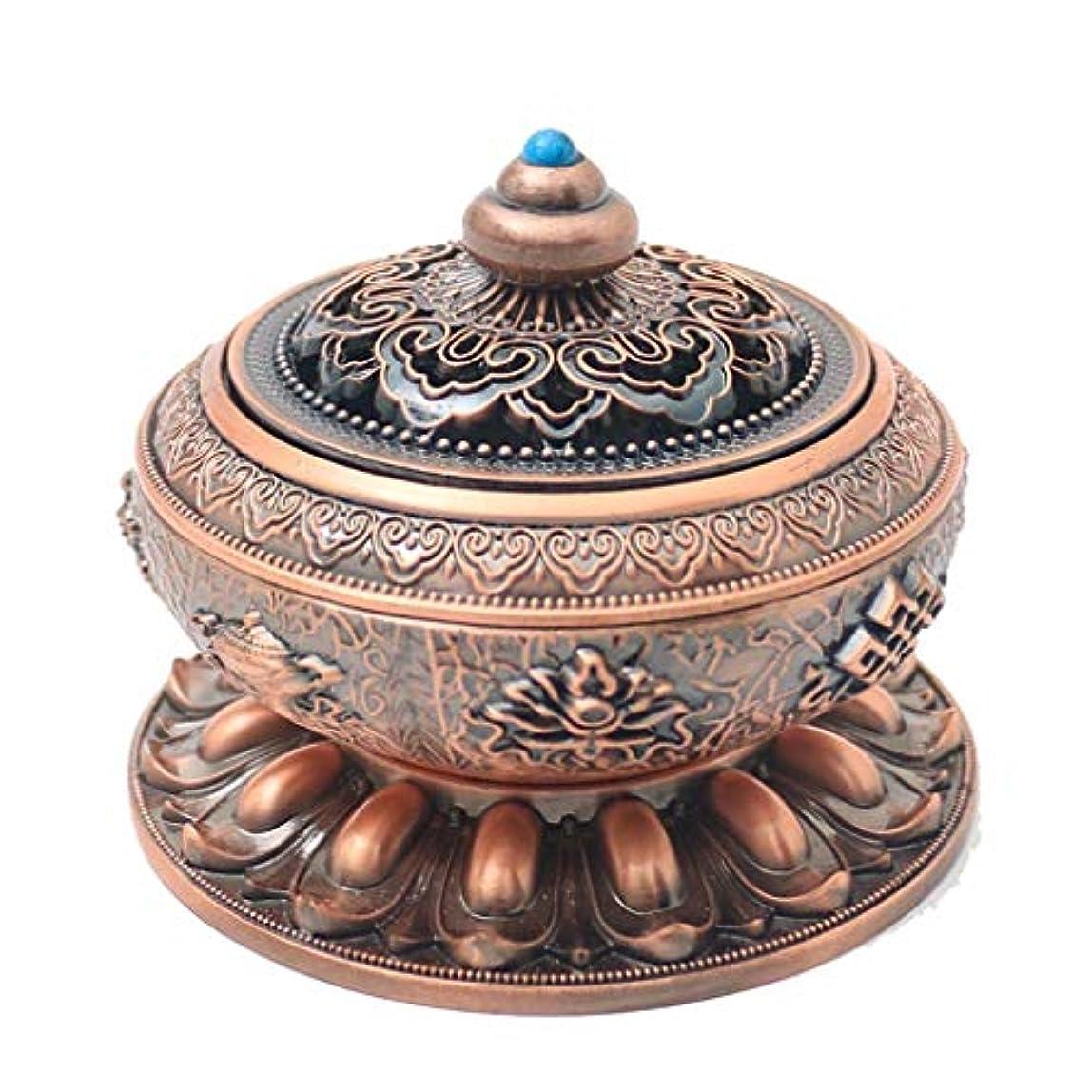 合金ロータス香バーナーアロマセラピーストーブルーム白檀炉香スティックコーンバーナーホルダー装飾香ホルダー (Color : Brass, サイズ : 3.93*3.74inchs)