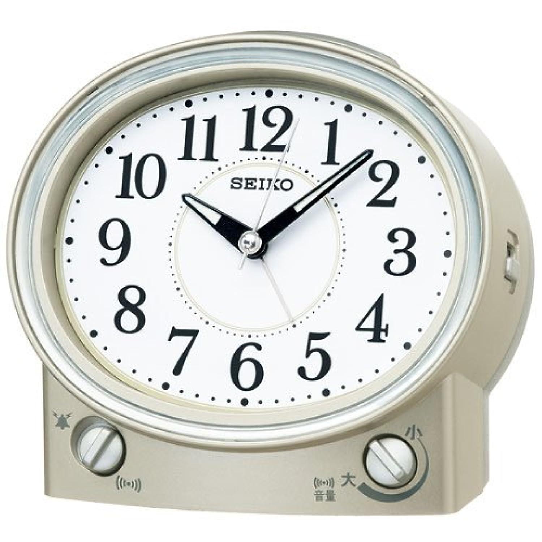 (セイコークロック) SEIKO CLOCK 目覚まし時計 KR892G 音量調節機能付き 薄金色パール アナログ