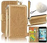 Vandot Samsung Galaxy S7 Edge G935F 手帳型ケース カバー 高品質 ブックタイプ PU レザー 押し花 紅葉 花柄 デザイン ギャラクシー s7edge ケース 手帳
