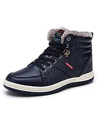 Schuhchan スノーブーツ メンズ 冬用 防寒 スニーカー カジュアル シューズ アウトドアシューズ スノーシューズ 綿雪靴 滑り止め