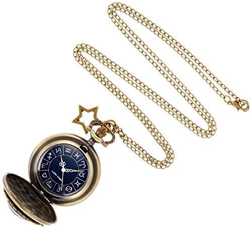 【リトルマジック】日本メーカー製クオーツ 星座 文字盤 懐中時計 レディース 時計 ネックレス 星 アクセサリー ナースウォッチ 6点セット スタースカイ LM1256