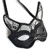 ハロウィンマスクpvcレースホーンマスクの仮面舞いの供給男性と女性のモデルハロウィーンのドレスアップ