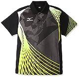 (ミズノ)MIZUNO 卓球ウェア ゲームシャツ[ユニセックス] 82JA6006 94 ブラック×ライムグリーン S