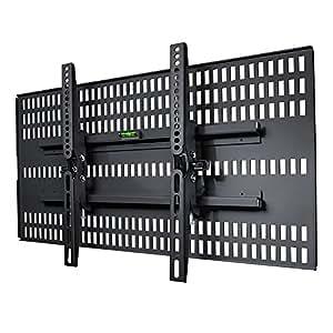 STARPLATINUM ホチキス止め 37-47インチ対応 液晶テレビ壁掛け金具 TVセッター壁美人 TI200 Mサイズ ブラック【液晶テレビ壁掛け】