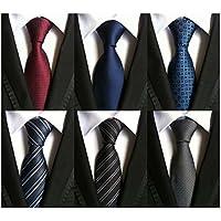 WeiShang Men's Lot 6 Pcs Classic Silk Tie Necktie Woven Jacquard Neck Ties