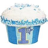 1st Birthday Blue Cupcake Pinata