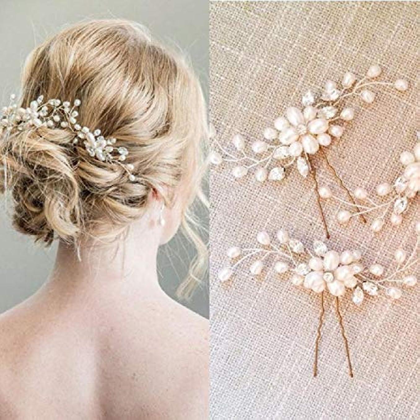後継知り合いチャーターHairpinheair YHM 2ピース祭り結婚式ヘアアクセサリーブライダルヘアスティック花ヘアピン美しいヘッドドレスひだヘアクリップつるアクセサリー