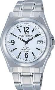 [シチズン キューアンドキュー]CITIZEN Q&Q 腕時計 電波ソーラー ソーラーメイト アナログ 10気圧防水 ホワイト HG08-204 メンズ 腕時計