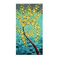 フォーチュンツリー装飾絵画、DIY油絵ペイント番号でキットキャンバス上に描く絵画手描きの芸術工芸フレーム,40x80cm