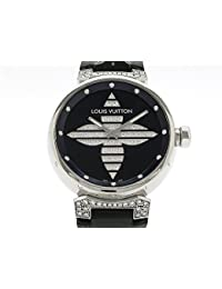 (ルイ ヴィトン) LOUIS VUITTON 腕時計タンブール フォーエバー ダイヤ文字盤 ラグダイヤ Q111B SS/革中古