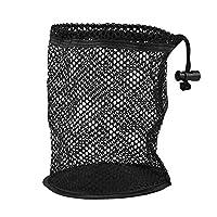 ゴルフ ネット 収納袋 ナイロン製 ゴルフボールケース バッグ ゴルフボールポーチ 使いやすい ブラック(S)