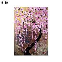 ruixuered-可愛い人気上品5dフルダイヤモンド絵画花の木風景DIYクロスステッチキットの壁の装飾 - 8130