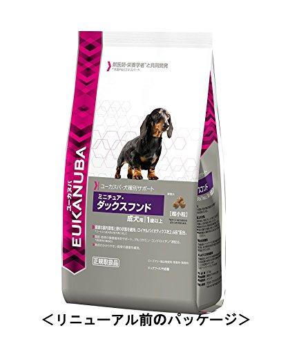 ユーカヌバ 犬種別サポート ミニチュア・ダックスフンド成犬用1歳以上 2.7kg